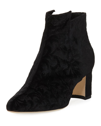 Belina Velvet Ankle Boot, Black
