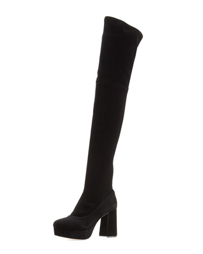 Platform Velvet Over-the-Knee Boot