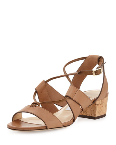 Margo Leather Crisscross 40mm Sandal