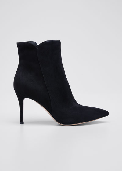 Suede 85mm Point-Toe Booties