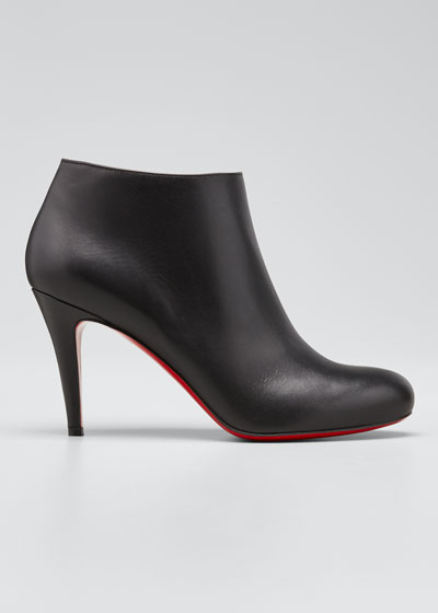 Belle Leather Red-Sole Ankle Boot