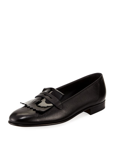 Leather Kiltie Loafer