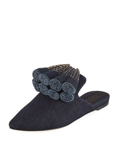 Sanguarina Denim Mule Slide