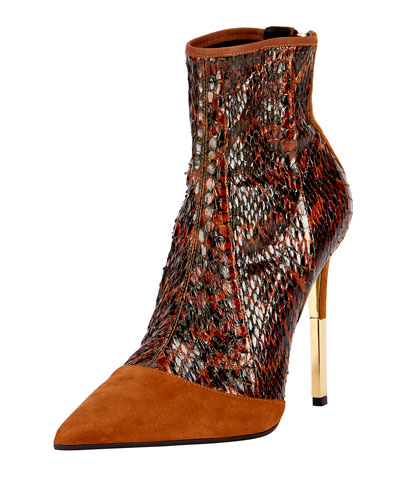 Blair Suede & Snakeskin Boot