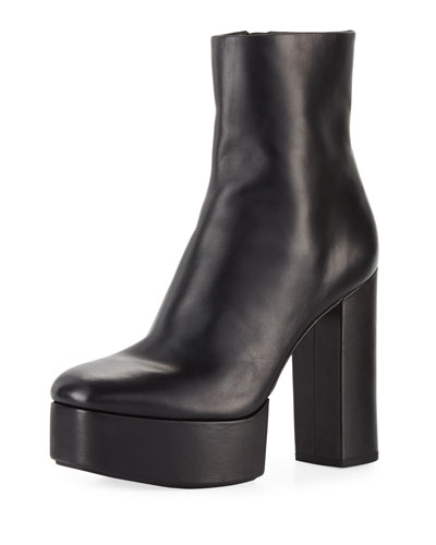 Cora Platform Leather 120mm Boot