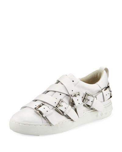 Premium Multi-Strap Leather Sneaker