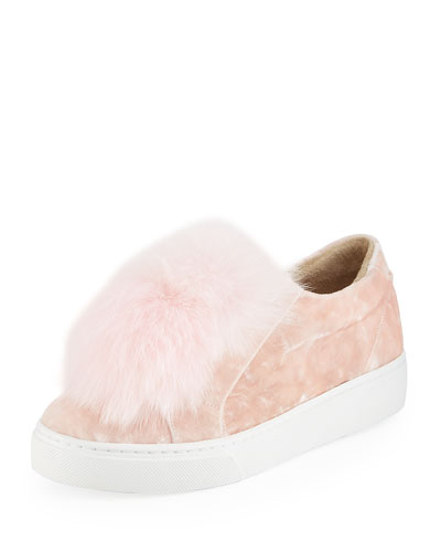 Emma Fox Fur Pompom Sneaker