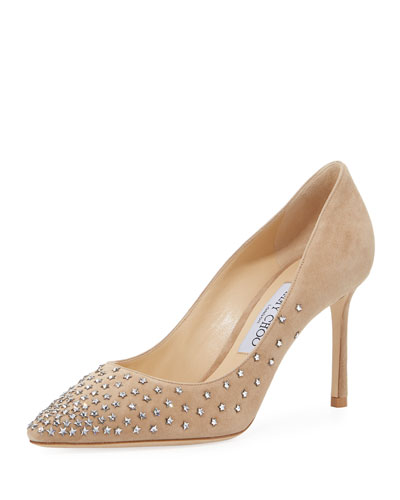 Romy Beaded Suede 85mm Pump