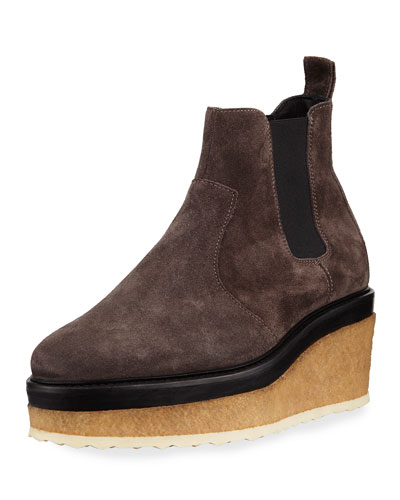 Jodhpur Suede Chelsea Wedge Boot