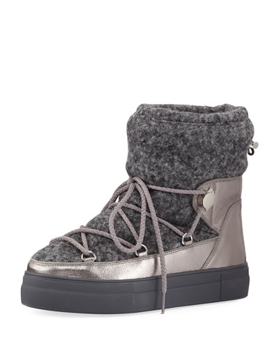 Ynnaf Wool & Leather Snow Boot