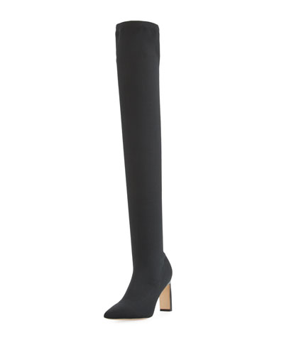 Hye Stretch-Wool Over-the-Knee Boot