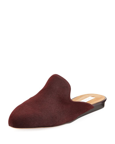 Calf Hair Loafer Mule