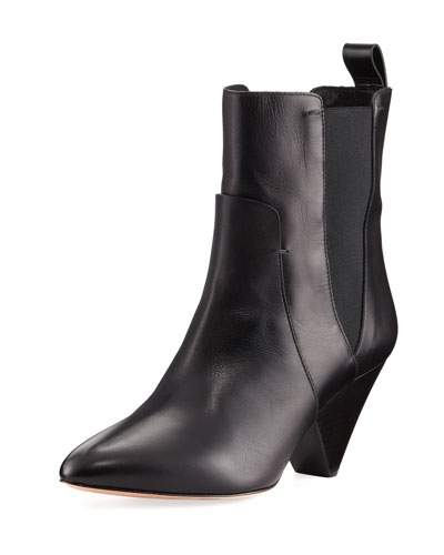 Landon Leather Ankle Boot, Black