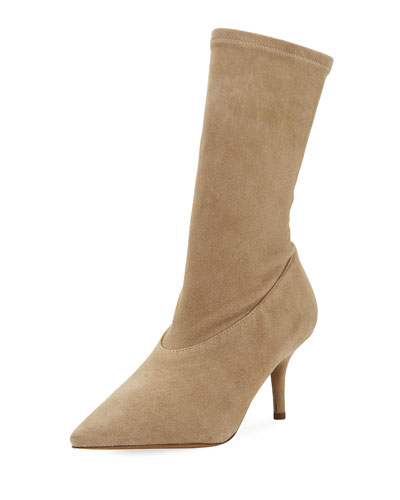 Stretch-Suede 70mm Ankle Boot