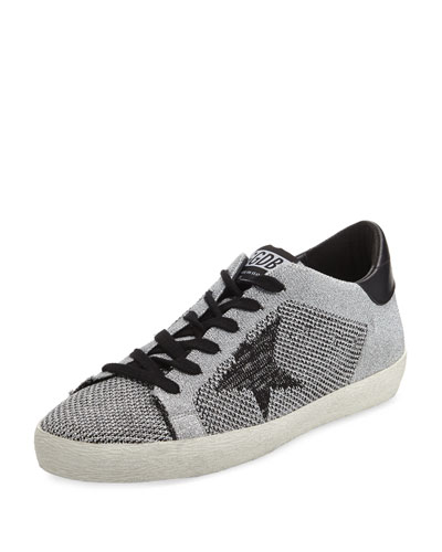 Metallic Knit Low-Top Sneaker