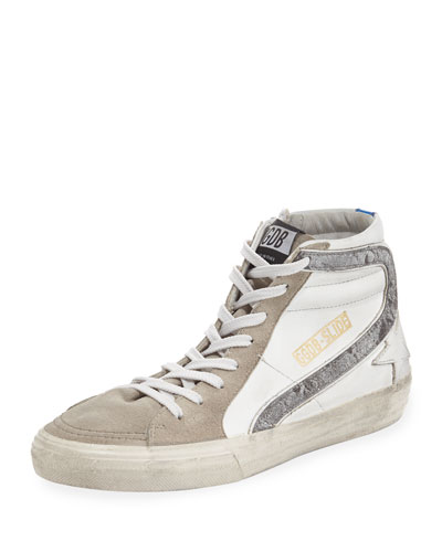 Women's Slide Leather & Suede Sneakers