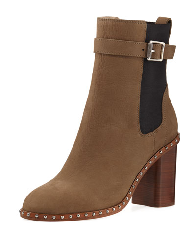 Romi Studded Block-Heel Boot