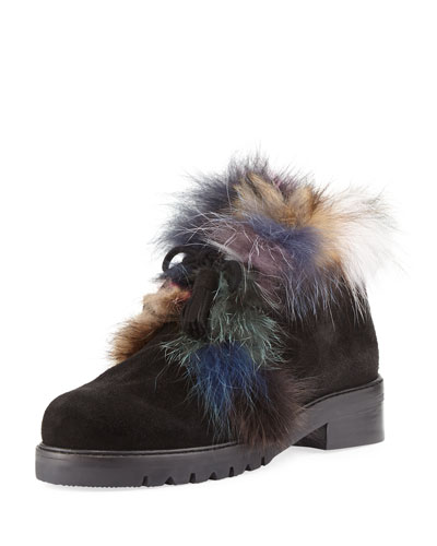 Furwalla Fur-Trim Hiker Boot