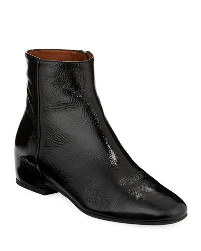 8b1e2b8ee8f Low Heel Leather Boot | bergdorfgoodman.com