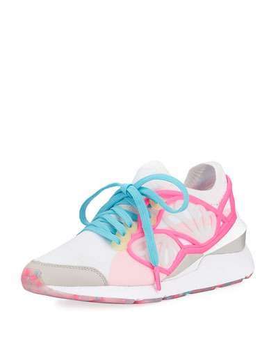 Lace-Up Cage Fade Sneaker, White