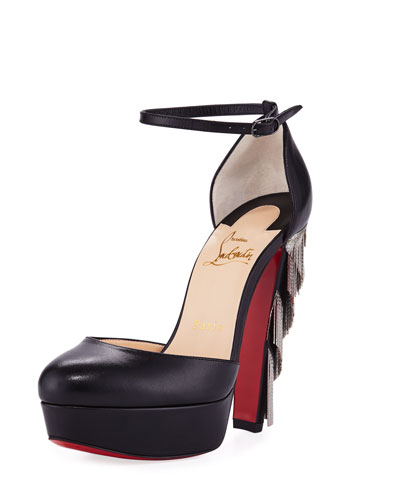 Feerie Chevron Chain Red Sole Pump