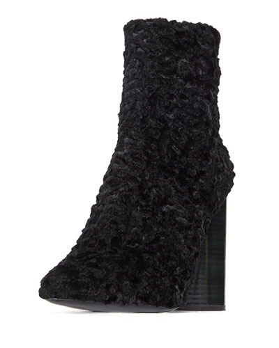 Edie Ruched Velvet Block-Heel Boot