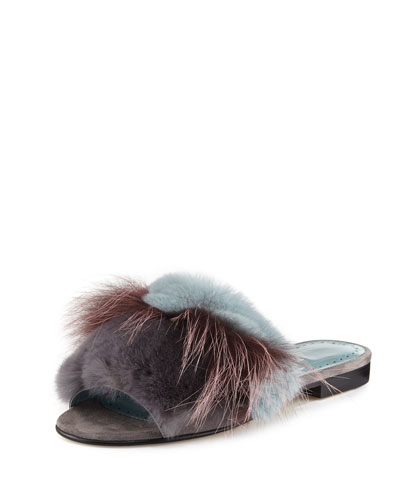 Pelususrafo Fur Flat Slide Sandal