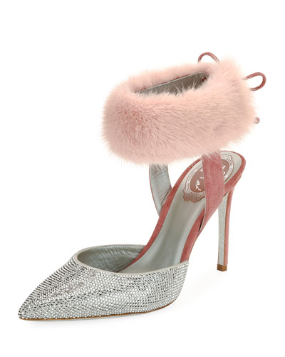 Strass & Mink 100mm Stiletto Pump