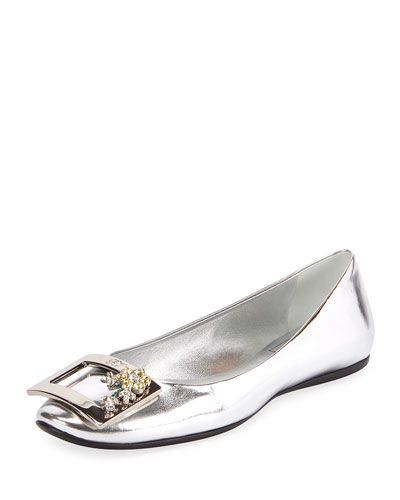 Gommette Crystal Buckle Flat