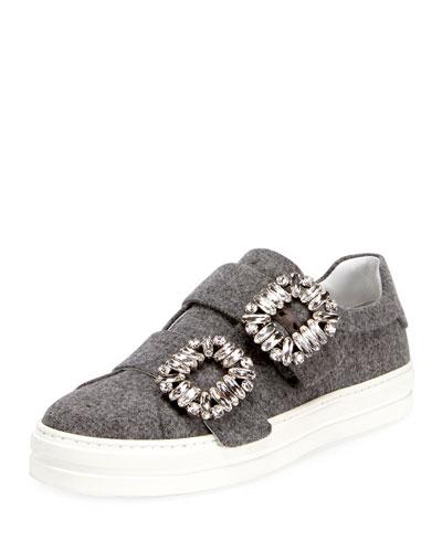 Sneaky Viv Two-Strap Wool Sneaker