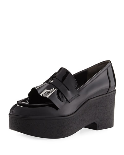 Verni Patent Leather Platform Loafer
