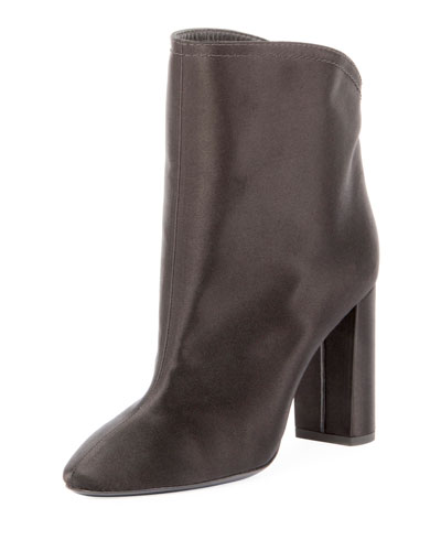 Satin Block-Heel 95mm Boot