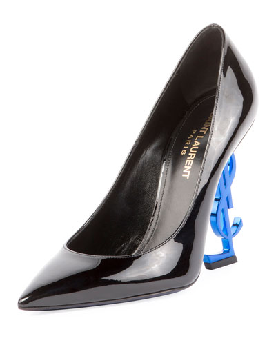 Patent Pump with Logo Heel