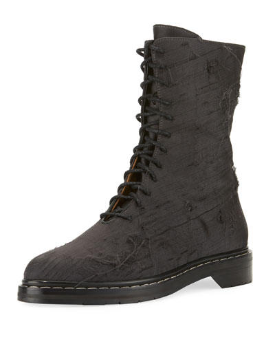 Fara Distressed Lace-Up Boot