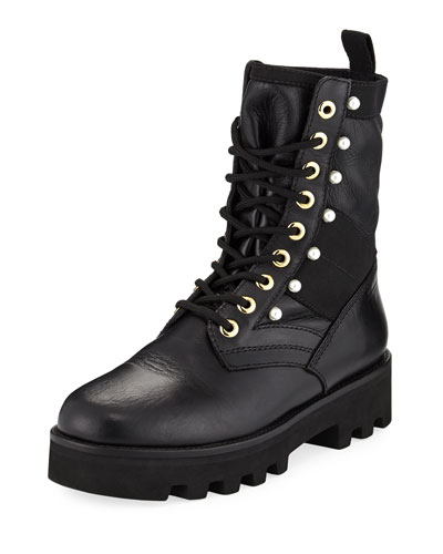 Cosmo Leather Combat Boot