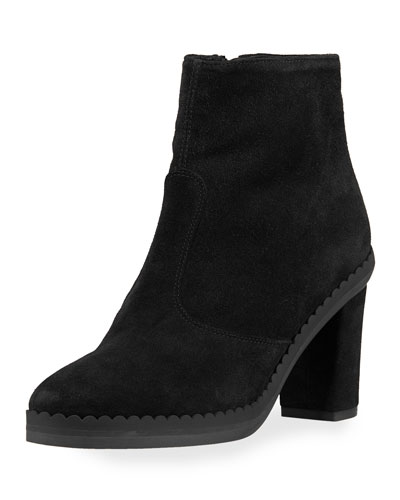 Suede Block-Heel 70mm Boot
