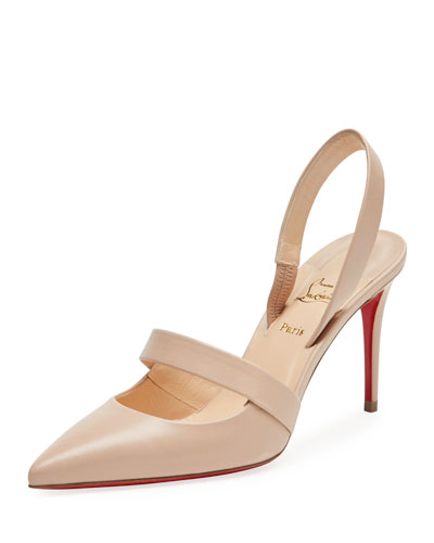 Actina Cutout Red Sole Pump