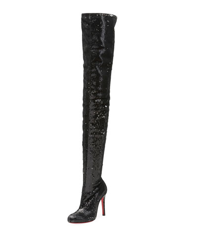 Louise X Red Sole Over-The-Knee Boot