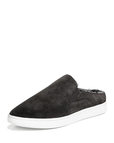 Verrell Fur-Lined Slide Skate Sneaker