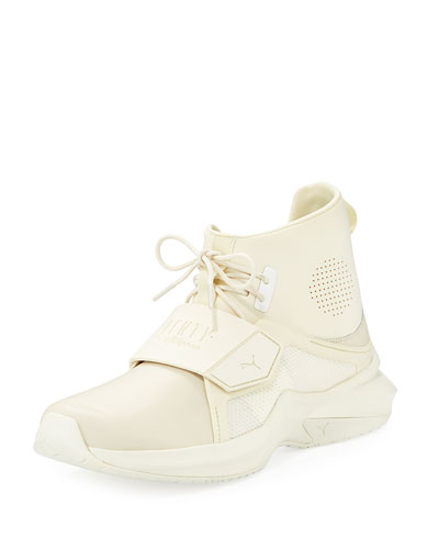 The Trainer Hi Sneaker, White