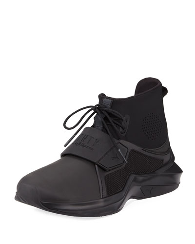 The Trainer Hi Sneaker, Black