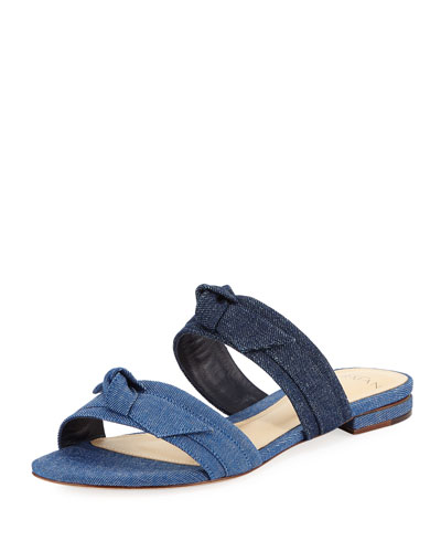 Mellita Two-Band Flat Denim Sandal