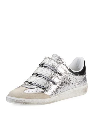 Beth Metallic Grip-Strap Sneaker
