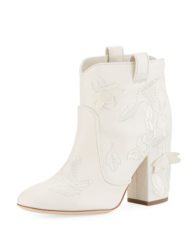 Pete Embroidered Western Bootie