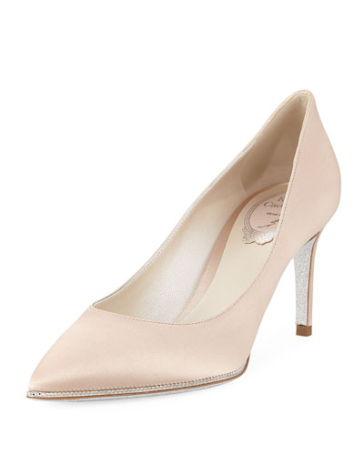 Crystal-Trim Satin 75mm Pump