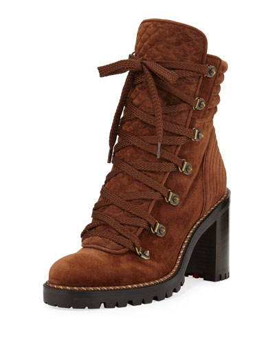 Mad Lace-Up Block-Heel Boot