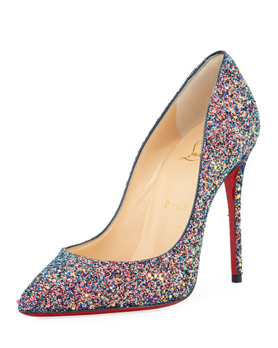 Pigalle Follies Glitter Red Sole Pump