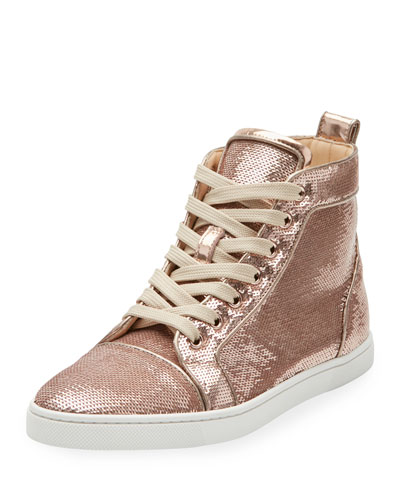 Bip Bip Sequined High-Top Sneaker