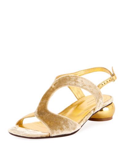 Strappy Velvet 20mm Sandal