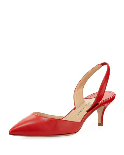 Rhea Leather Slingback Pump
